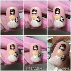 Este posibil ca imaginea să conţină: unul sau mai mulţi oameni Chic Nail Art, Chic Nails, Cartoon Nail Designs, Cool Nail Designs, Bride Nails, Wedding Nails, Owl Nail Art, Japan Nail Art, New Nail Colors
