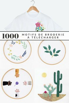 Embroidery 1000 free patterns to embroider like a professional 1000 embroidery designs to obtain totally free – Marie Claire Idées Floral Embroidery Patterns, Hand Embroidery Stitches, Hand Embroidery Designs, Embroidery Kits, Vintage Embroidery, Ribbon Embroidery, Quilt Patterns, Handmade Home, Clothes Draw