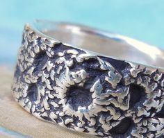 Crochet Jewelry, Silver Crocheted Ring in Sterling Silver by HappyGoLicky, $60.00 #boho #jewelry #fashion