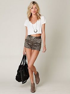 cashmere leopard shorts, #freepeople.