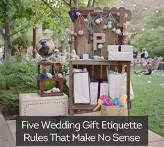 5 #Wedding gift etiquette rules that make no sense