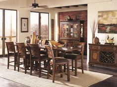 Larkspur Rectangular Counter Height Dining Room Set