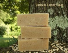 Oatmeal & Honey Soap Recipe (gluten, dairy, soy & palm free)