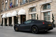 matte black Ferrari 599