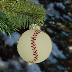 Baseball Christmas Ornament - Shatterproof - 2.25 in. - White - 6 Pack  we need to get theeeese