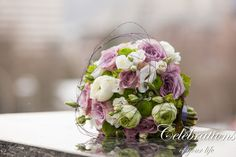 purple/creme and green,  you can see more of this wedding here www.Celebrations-of-your-life.de/blog