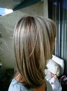 Light Blonde Highlights With Dark Brown Peek A Boo Chunks