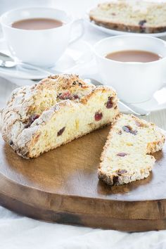 A delicious and really simple sweet soda bread flavoured with marzipan, cherries…