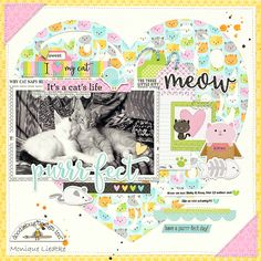 Doodlebug Design Inc Blog: Kitten Smitten Collection: It's a Cat Life Layout by Monique