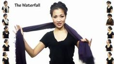 25 Ways to Wear a Scarf in 4.5 Minutes step by step DIY tutorial instructions, How to, how to do, diy instructions, crafts, do it yourself, diy website, art project ideas