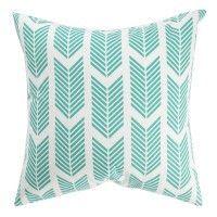 Teal Arrows Pillow