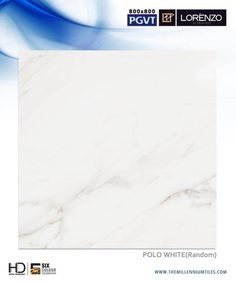 Certainly one of the best looking marble effect porcelain tiles ever produced. We manufactures tiles, your customers will love in the long run.  #Polo White - Millennium Tiles 800x800mm (32x32) Digital PGVT XL White #Marble Design #Porcelain Tiles Series #tiledesign #interiordesign