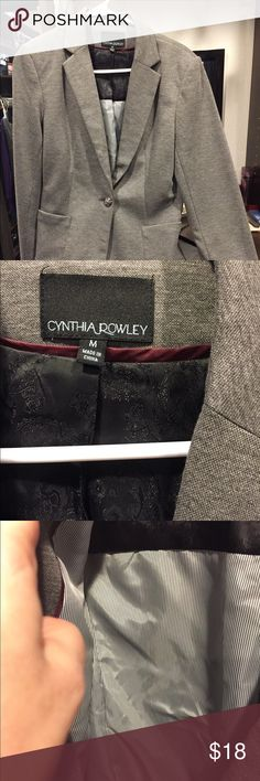 Gray Blazer Gray blazer. Only warn once. Obe button. Completely lined. Practically new. Cynthia Rowley Jackets & Coats Blazers