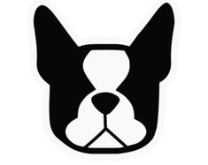 Boston terrier dog car vinyl decal stickers - Smooshface United: pushed in, smooshed in, flat face breed bias love - Donation w/ each order Boston Terrier Tattoo, Boston Terrier Art, Shih Tzu, Puppy Love, Puppies, Black White, Modern Clothing, Pick 3, Marimo