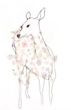 deer into butterflies and flowers ana laura perez
