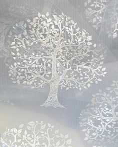 Sheer Curtains with Metallic Trees Sale $14.99 (Was $40.00)