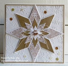 Create with diamond dies Beautiful Christmas Cards, Easy Christmas Crafts, Christmas Cards To Make, Homemade Birthday Cards, Homemade Cards, Star Cards, Stamping Up Cards, Marianne Design, Card Patterns
