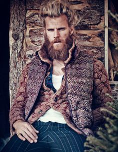 70 Bearded Fashion Finds - From Grizzly Man Editorials to Luxe Lumberjack Runways (TOPLIST)