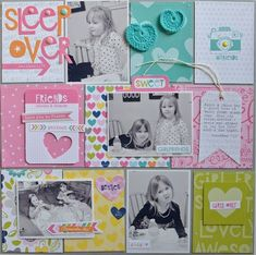 Bella Blvd Molly Collection. Sleepover layout by DT member Jen Chapin