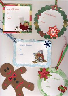 Christmas tag set handmade