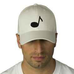 Music Note Embroidered Cap Embroidered Baseball Cap
