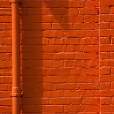 Color Naranja - Orange!!! Brick Wall