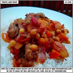 PLEASE LIKE AND SHARE! We don't have many lamb recipes but this is a corker - a pronto lamb tagine that is perfect for Slimming World! Enjoy - it's a proper belly warmer! Remember, at www.twochubbycubs.com we post a new Slimming World recipe nearly every day. Our aim is good food, low in syns and served with enough laughs to make this dieting business worthwhile. Please share our recipes far and wide! We've also got a facebook group at www.facebook.com/twochubbycubs - enjoy!