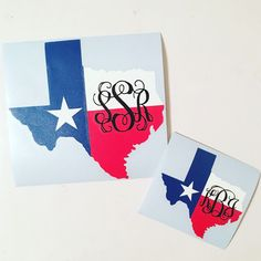 State of Texas Monogram decal Monogram Texas Decal Texas Flag decal