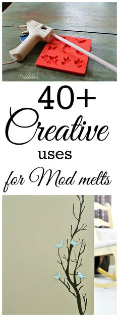 IF you do not know, or cannot find Mod-Melts they seem VERY like regular glue sticks. 40+ Creative uses and ways to create something cute, crafty and fun with #modmelts. To find info on the thumbnail photos, just click on the ones you are interested in.