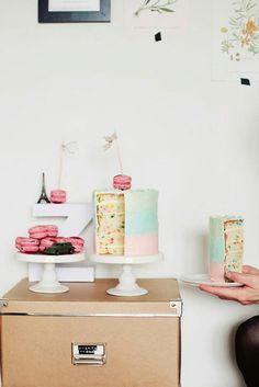 funfetti ombre cake