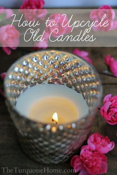 Don't throw away your old, used-up candles! Take an old candle, a pretty container and a little time and you have a brand new upcycled candle. They make beautiful, handcrafted gifts! Don't you just love Anthropologie? The sights, the smells, the creative, beautiful designs. I head straight for the home and kitchen side and just …