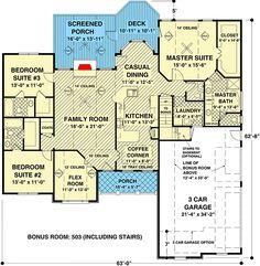 Outstanding Craftsman Details - 20067GA   1st Floor Master Suite, Bonus Room, CAD Available, Corner Lot, Craftsman, Den-Office-Library-Study, MBR Sitting Area, PDF, Ranch, Split Bedrooms   Architectural Designs