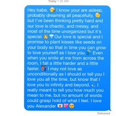 I know you're asleep but.. Cute/ Love text message ✨