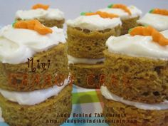 Mini Carrot Cakes - not difficult to make and perfect for Easter!! Make for your holiday spread or give as gifts! These taste so great when made from scratch!