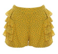 Frilled Kiwi Shorts - too cute