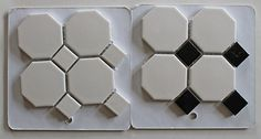 merola-tile-metro-octagon-white-and-black  Upstairs bathroom.  All white instead of black and white.