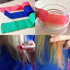 Diy die your hair with tissue paper