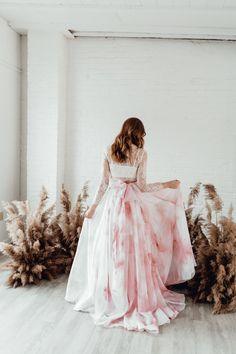 100 Boho Wedding Decor Finds You'll Love! | The Perfect Palette Colored Wedding Dress, Wedding Skirt, Wedding Dresses, Bridesmaid Dresses, Sheer Chiffon, Chiffon Skirt, Boho Wedding Decorations, Wedding Ideas, Tulle