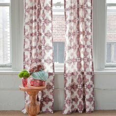 Courtship...Add instant bohemian romance to your bedroom with these lovely curtains from John Robshaw. #DreamRobshaw
