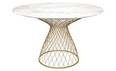 Dakota Marble Table - Gold - Dining - Tables - Furniture | Jayson Home
