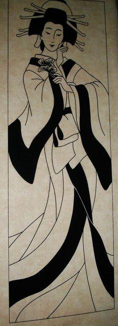 Ginko Goddess - Lonni Rossi - Geisha - Cotton