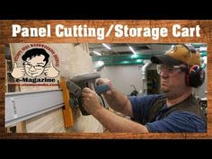 Must see homemade panel-cutting plywood cart! Storage Cart, Wood Storage, Html Tools, Woodworking Journal, Workshop Cabinets, Kreg Jig, E Magazine, Plywood, Social Media