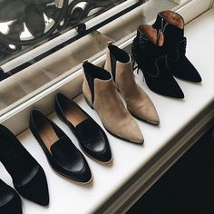The shoe lineup. // Follow @ShopStyle on Instagram to shop this look