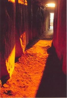 The passage tomb at Newgrange, County Meath awash with light during the Winter Solstice on December 21st. This ancient light show has been taking place at the same time and date for over 5,000 years!