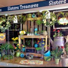 Pallet Potting Bench Display at Sisters' Treasures