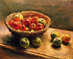 Claude Monet A Basket Of Apples oil painting reproductions for sale
