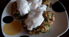 Pyszne pieczone placuszki z brokułów