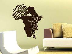#Wandtattoo #Afrika #Kontinent Hakuna Matata Alles ist in Ordnung Blumen Zebra