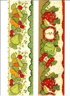 BORBOLETA AZUL fruit and vegetable  border.