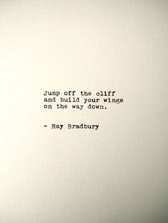 Ray Bradbury Handtyped Quote found on Etsy #AD #quotes #poetry #print